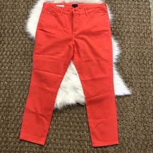 New coral salmon NYDJ Clarissa ankle jeans 16